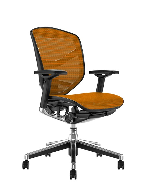 Enjoy Elite Orange Mesh Office Chair no Head Rest