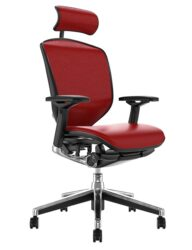 Enjoy Elite Red Leather Office Chair with Head Rest