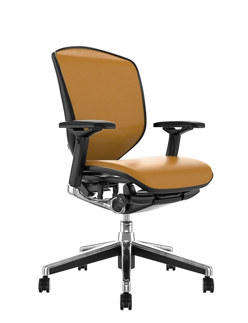 Enjoy Elite Tan Saffran Leather Office Chair