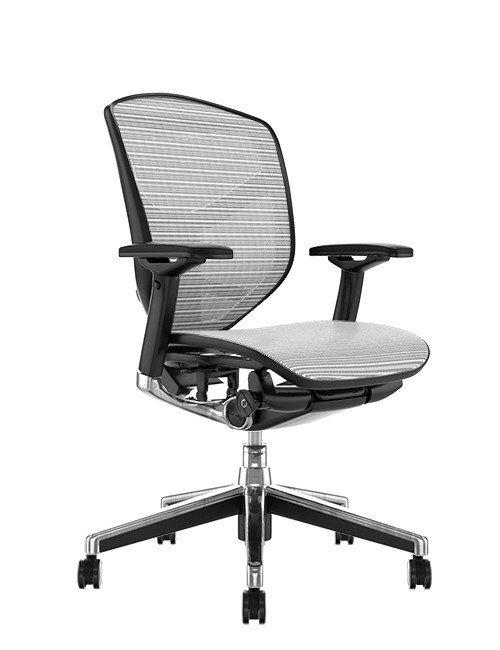 Enjoy Elite White Mesh Office Chair no Head Rest