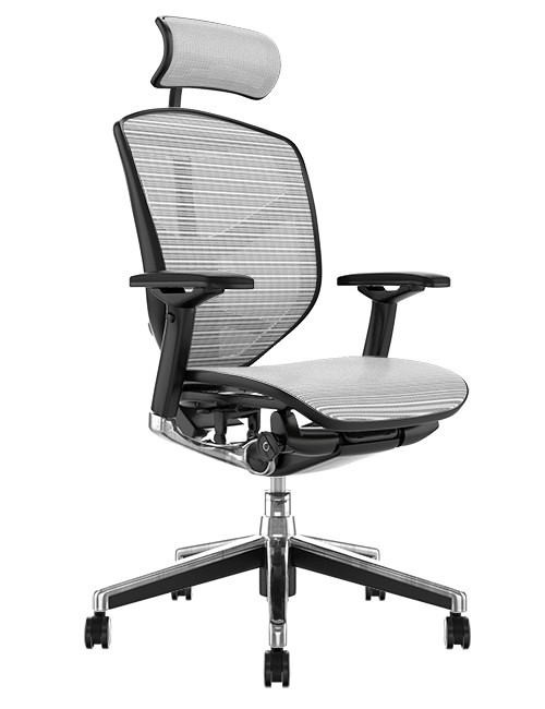 Enjoy Elite Office Chair White Mesh with Head Rest