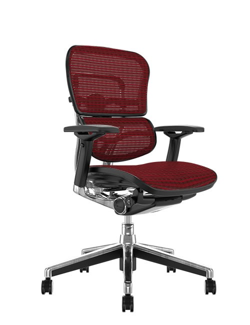 Ergohuman Mesh Office Chair - Burgundy Mesh