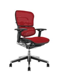 Ergohuman Mesh Office Chair - Red Mesh no Head Rest