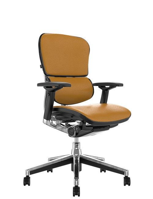 Ergohuman Elite Tan Saffran Leather Office Chair