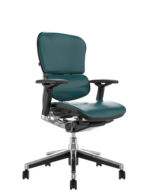 Ergohuman Elite Teal Leather Office Chair