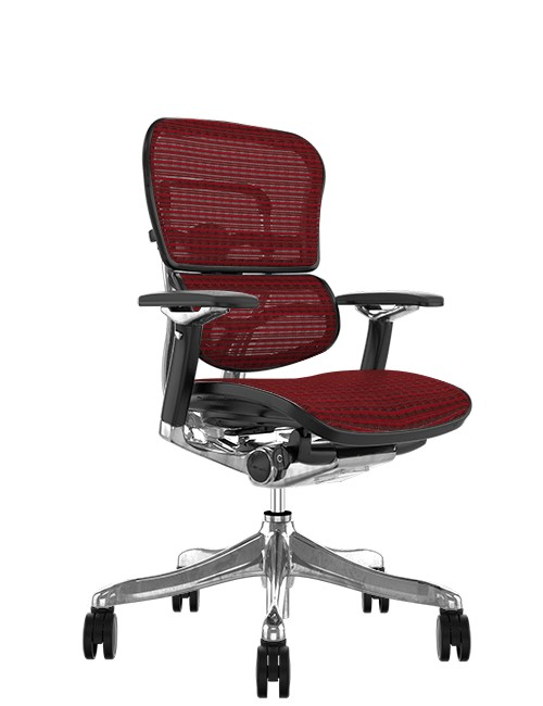 Ergohuman Plus Luxury Burgundy Mesh no Head Rest