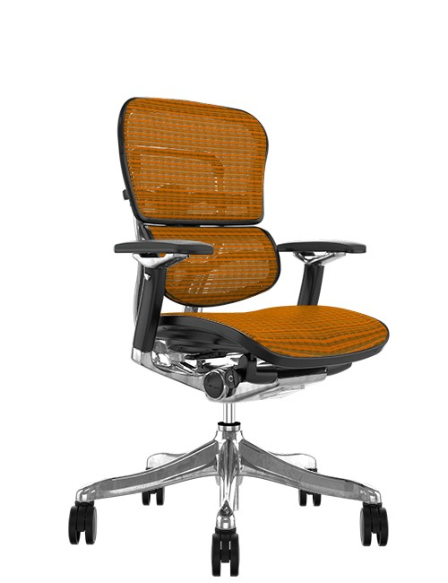 Ergohuman Plus Luxury Orange Mesh no Head Rest