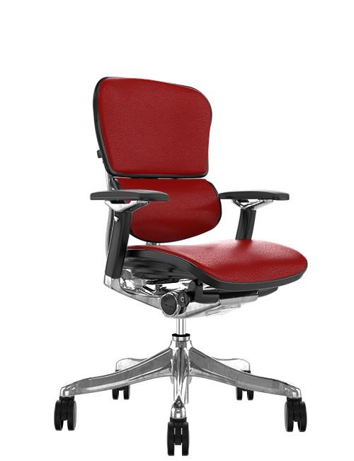 Ergohuman Plus Luxury Red Leather no Head Rest