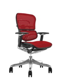 Ergohuman Plus Luxury Red Mesh no Head Rest