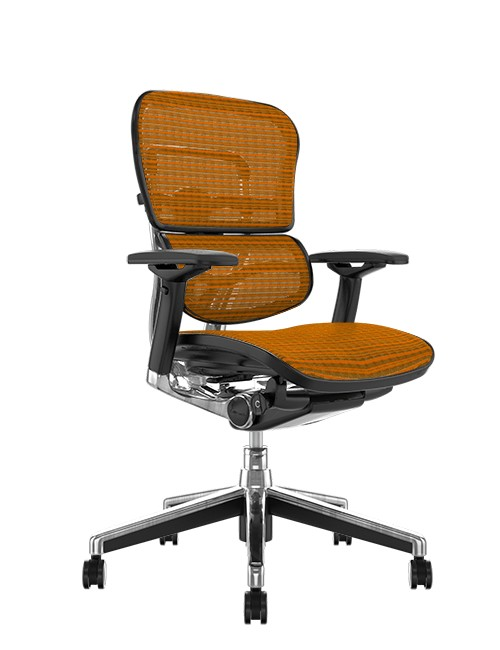 Ergohuman Mesh Office Chair - Orange Mesh