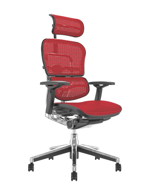 Ergohuman Office Chairs Red Mesh