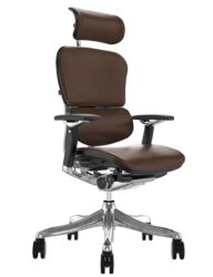 Ergohuman Plus Luxury Brown Leather with Head Rest