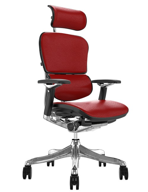 Ergohuman Plus Luxury Red Leather with Head Rest