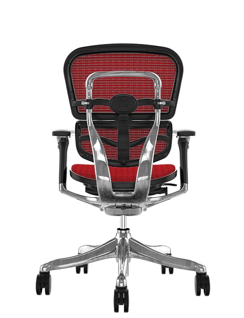 Ergohuman Plus Luxury Red Mesh no Head Rest Back