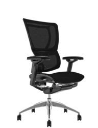 Mirus Black Mesh Office Chair, Black Frame, no Head Rest