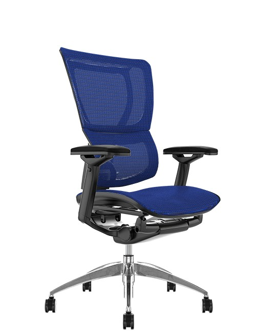 Mirus Blue Mesh Office Chair, Black Frame, no Head Rest