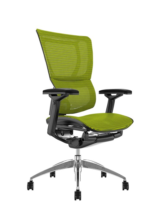 Mirus Green Mesh Office Chair, Black Frame, no Head Rest