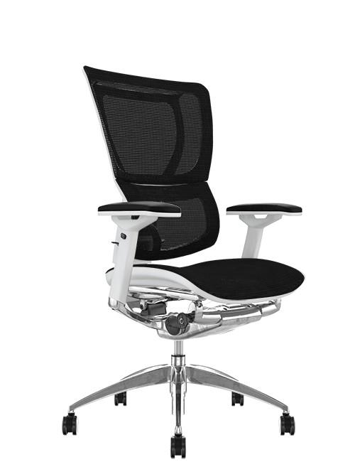 Mirus Black Mesh Office Chair White Frame