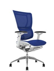 Mirus Blue Mesh Office Chair White Frame