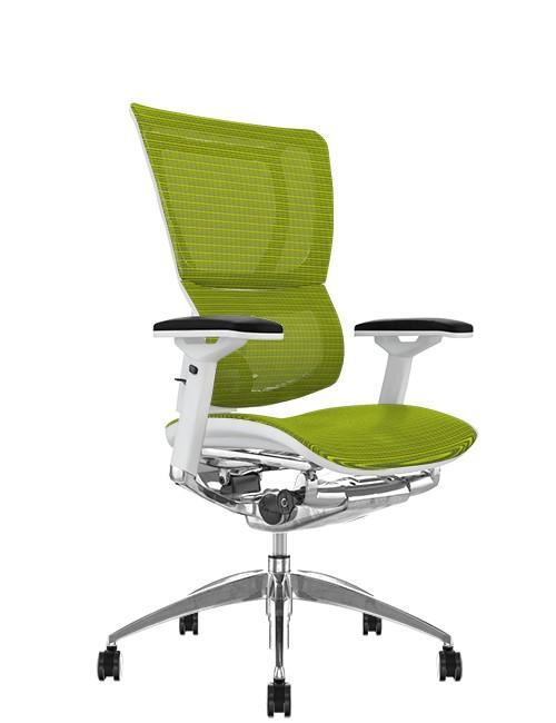 Mirus Green Mesh Office Chair White Frame