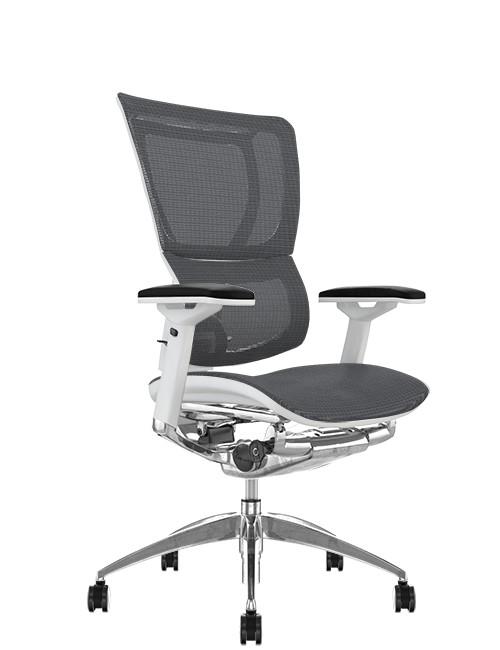 Mirus Grey Mesh Office Chair White Frame