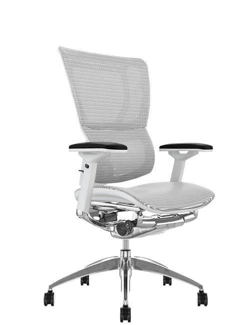 Mirus White Mesh Office Chair White Frame