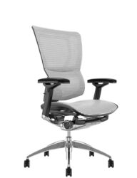 Mirus White Mesh Office Chair Black Polished Frame
