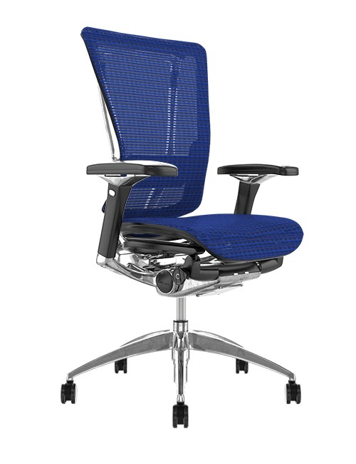 Nefil Blue Mesh Office Chair no Head Rest