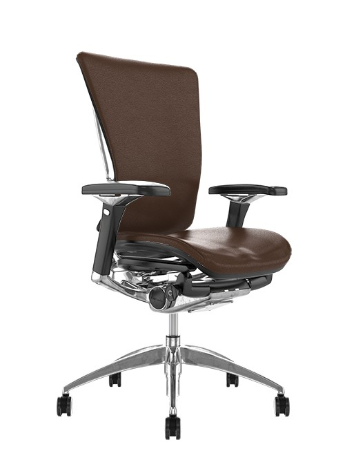 Nefil Brown Leather Office Chair