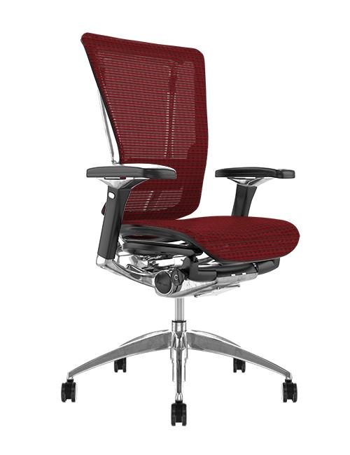 Nefil Burgundy Mesh Office Chair no Head Rest
