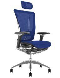 Nefil Ergonomic Blue Mesh Office Chair with Head Rest