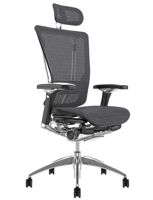 Nefil Ergonomic Grey Mesh Office Chair with Head Rest