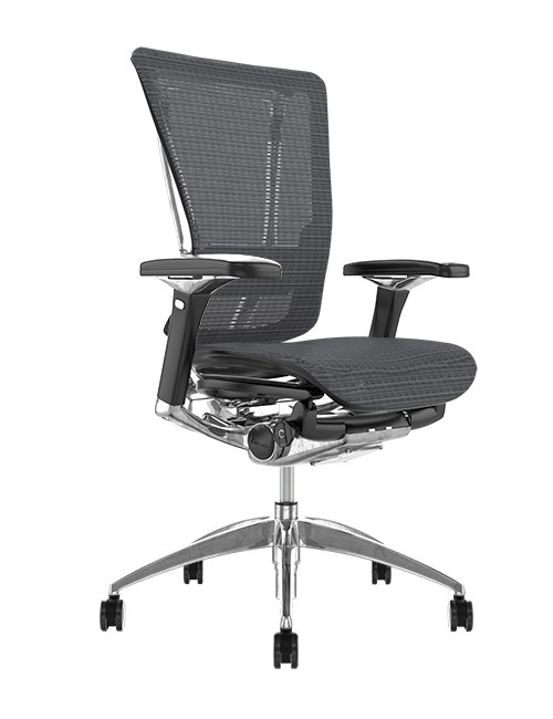 Nefil Grey Mesh Office Chair no Head Rest