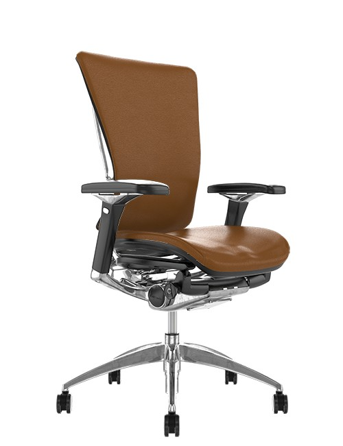 Nefil Latte Leather Office Chair