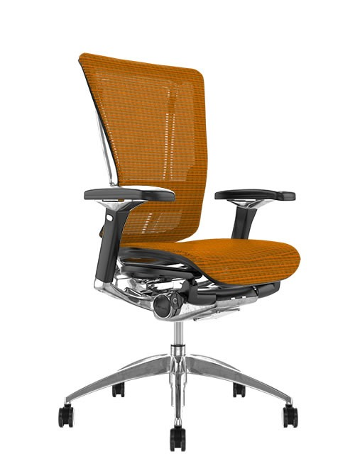 Nefil Mesh Ergonomic Office Chair - Orange Mesh