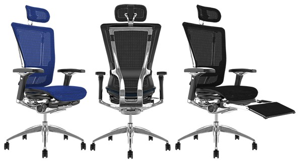 Nefil Office Chairs in Mesh, Leather, Fabric or Combinations