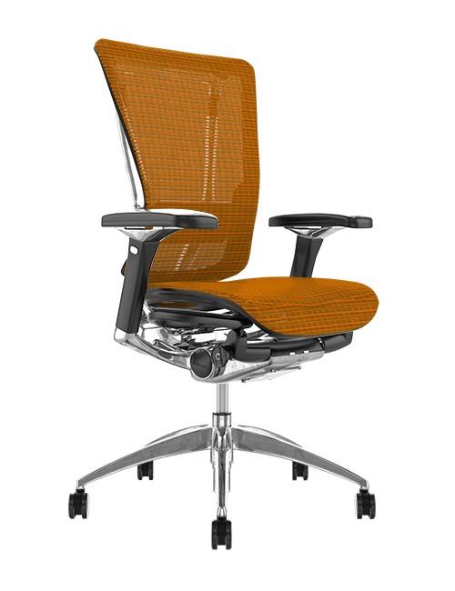 Nefil Orange Mesh Office Chair no Head Rest