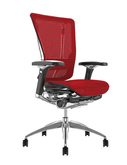 Nefil Red Mesh Office Chair no Head Rest