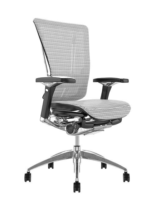 Nefil White Mesh Office Chair no Head Rest