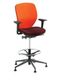 Orangebox Joy Counter Height Office Chair with Adjustable Arms