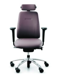 RH New Logic 200 Leather Office Chair with Head Rest