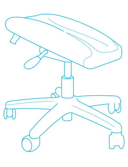 Single Legrest Support Stool Diagram